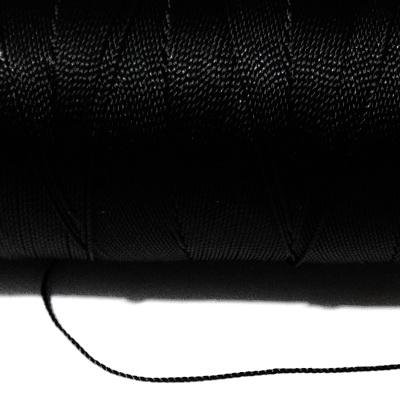 Ata polyester neagra, 0.6 mm-mosor  cca 270m 1 buc