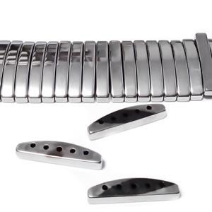 Hematite  placate cu argintiu, cu 5 orificii, 19x2.5mm 1 buc