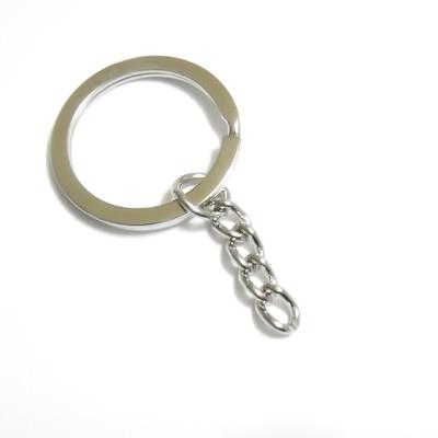 Accesoriu breloc, argintiu inchis, zala dubla, plata, cu lant, exterior 30mm 1 buc