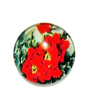 Cabochon sticla, cu flori, 20mm, model 40 1 buc