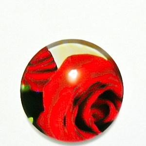 Cabochon sticla, cu flori, 20mm, model 42 1 buc