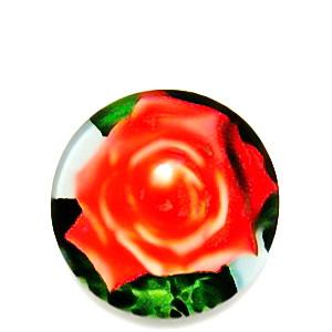 Cabochon sticla, cu flori, 20mm, model 47 1 buc