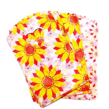 Pungi plastic, 14x9 cm, albe cu flori cca 50 buc