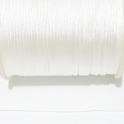 Snur matasos pentru bratari shamballa, alb, grosime 1.5mm 1 m