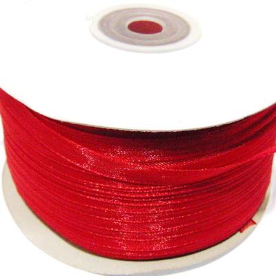 Panglica organza rosie, 6mm-rola 230 metri 1 buc