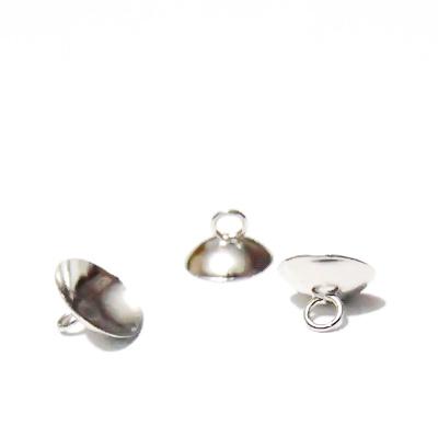 Accesoriu pentru glob din sticla, argintiu inchis, 10x6mm 1 buc