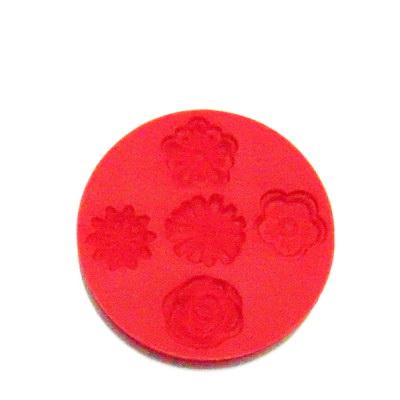 Set accesorii fimo, cauciuc, forme flori 1 buc