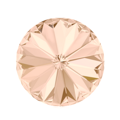 Swarovski Elements, Rivoli 1122 - Light Peach, 8mm