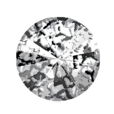 Swarovski Elements, Rivoli 1122 - Black Patina, 8mm 1 buc