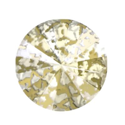 Swarovski Elements, Rivoli 1122 - Gold Patina, 8mm 1 buc