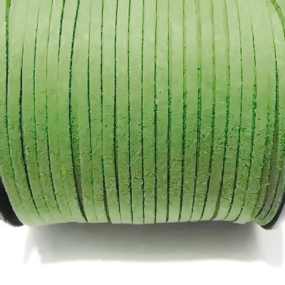 Snur faux suede, verde-kaky, grosime 3x1.5mm 1 m