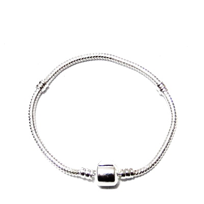 Baza bratara, tip Pandora, argintie, 17x0.3 cm 1 buc