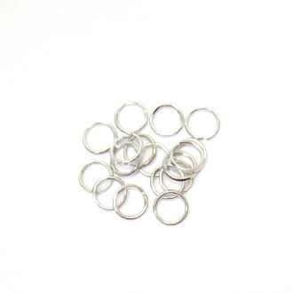 Zale simple argintiu inchis, 6mm(grosime 0.8mm) 100 buc