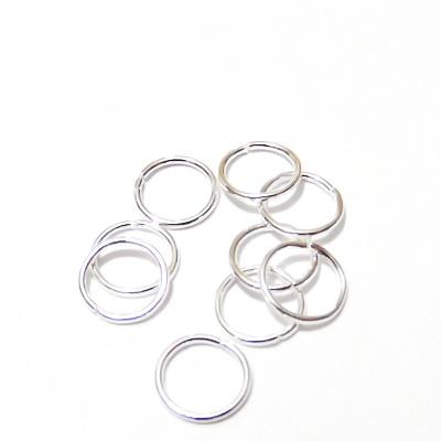 Zale simple placate cu argint, 10mm, grosime 1mm 10 buc