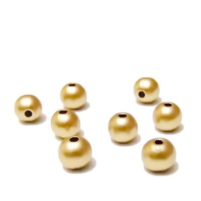 Perle plastic, aurii, mate, 6mm 10 buc