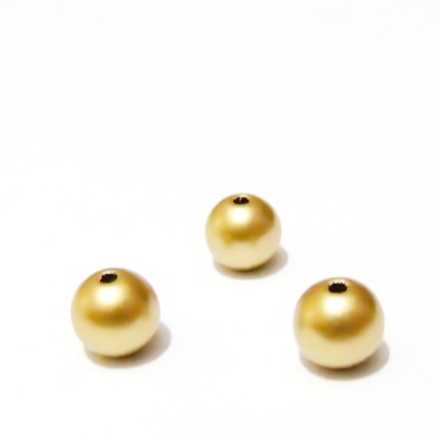 Perle plastic, aurii, mate, 8mm 10 buc