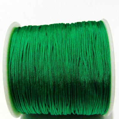 Snur matasos pentru bratari shamballa, verde, grosime 0.8mm 5 m