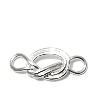 Conector/link metalic, argintiu inchis, 39x17x4mm 1 buc