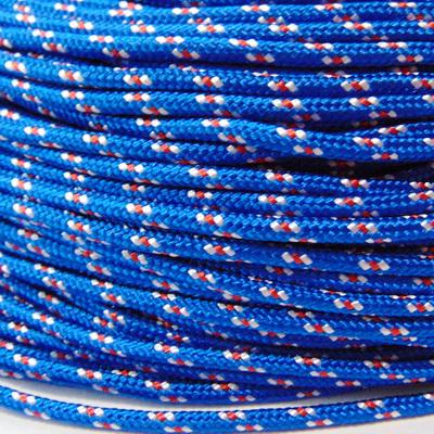 Snur paracord, albastru cu rosu si alb, 4mm 1 m