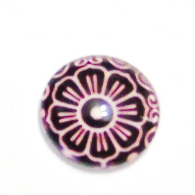 Cabochon sticla, 16mm, ,,Mozaic