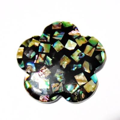Pandantiv Scoica Paua, floare 50x4mm 1 buc