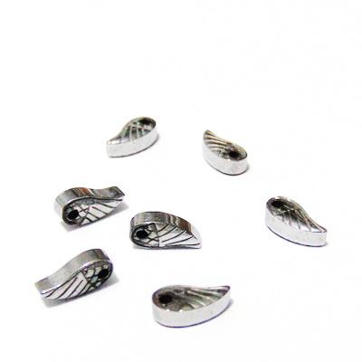 Hematite nemagnetice, placate argintii, aripioara 8x4x2.5mm 1 buc