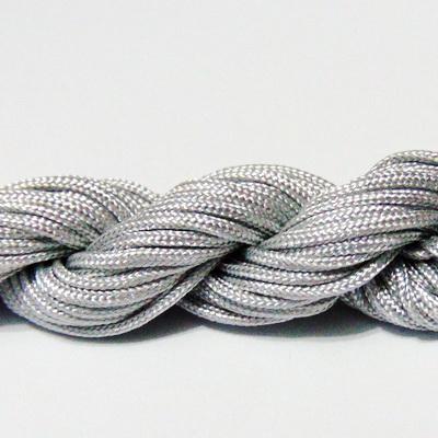 Snur matasos pentru bratari shamballa, argintiu, 2mm-scul aproximativ 12m 1 buc