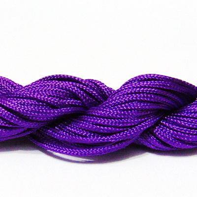 Snur matasos pentru bratari shamballa, violet, 2mm-scul aproximativ 12m 1 buc