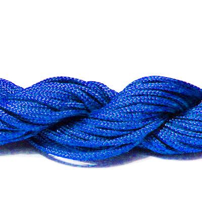 Snur matasos pentru bratari shamballa, albastru-cobalt, 2mm-scul aproximativ 12m 1 buc