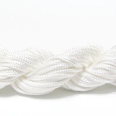 Snur matasos pentru bratari shamballa, alb, 2mm-scul aproximativ 12m 1 buc