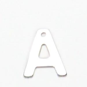 Pandantiv otel inoxidabil 304, litera  A, 11x5.5x0.5mm 1 buc
