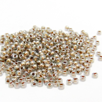 Margele TOHO rotunde, 11/0 :  Gold-Lined Black Diamond 20 g
