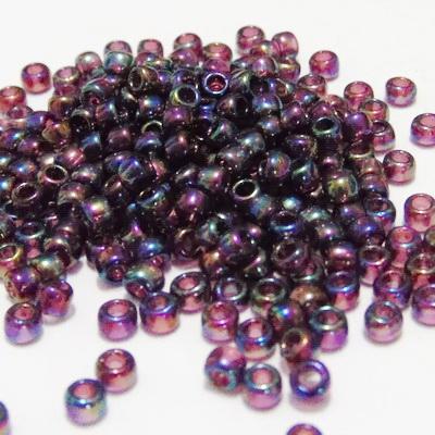 Margele TOHO rotunde 8/0 : Transparent-Rainbow Amethyst 20 g