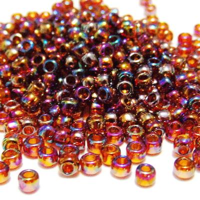 Margele TOHO rotunde 8/0 : Transparent-Rainbow Smoky Topaz 20 g