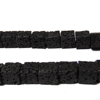 Lava neagra, cubica, 8~9mm 1 buc