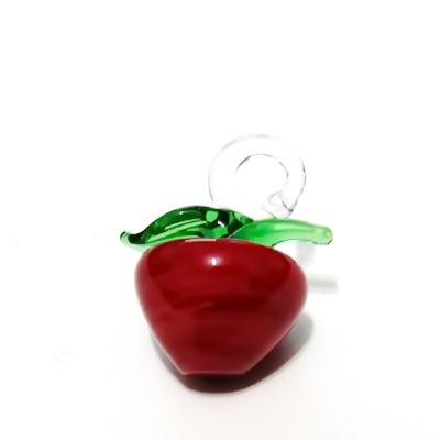 Pandantiv  Lampwork, mar rosu inchis, 20x15mm 1 buc