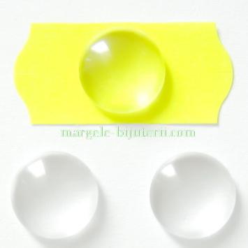 Cabochon sticla transparenta, 20x6mm  1 buc