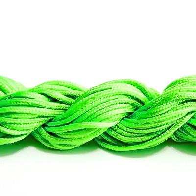 Snur matasos pt bratari shamballa, verde-lime, 2mm-scul aproximativ 12m 1 buc