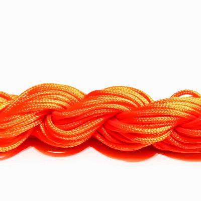 Snur matasos pt bratari shamballa, portocaliu-neon, 2mm-scul aproximativ 12m 1 buc