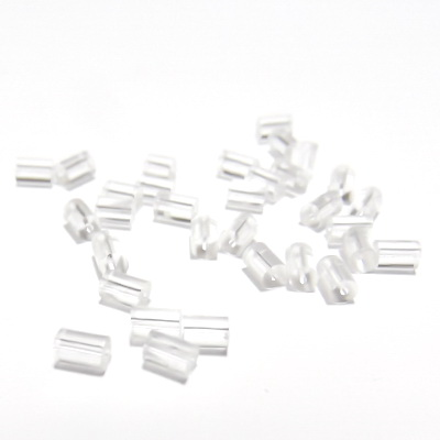 Dop silicon, tubular, transparent, 3x3mm 45-50 buc
