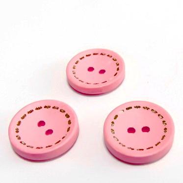 Nasturi lemn, roz, 18x4mm 1 buc