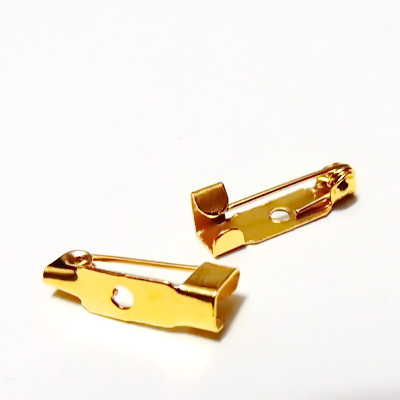 Suport brosa auriu, 15x5m, cu 1 orificiu 1 buc