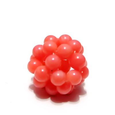 Bulgaras jad roz 4mm, 16mm 1 buc