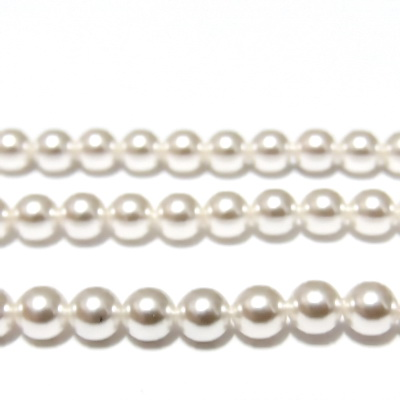 Swarovski Elements, Pearl 5810 Crystal White 5mm  1 buc