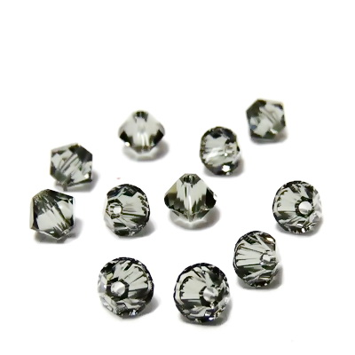 Swarovski Elements, Bicone 5328-Blach Diamond, 4mm  1 buc