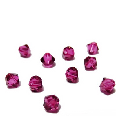 Swarovski Elements, Bicone 5328-Fuchsia, 4mm 1 buc