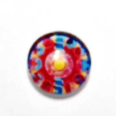 Cabochon sticla, 12mm, ,,Mozaic