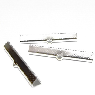 Capat prindere panglici, argintiu inchis, 45x6 mm 1 buc