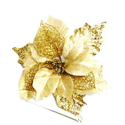 Craciunita aurie, cu glitter, 24~25 cm 1 buc
