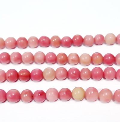 Rodonit roz, sferic, 6.8mm 1 buc